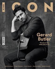 """""""@gerardbutler, vestido de @hugoboss, portada del número de abril de ICON."""