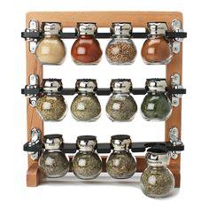 Especiero de pared tubos de ensayo madera r stico - Como hacer un especiero ...