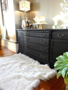 DIY buffet makeover ~ Monica Hart via La Famiglia Design