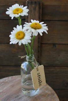 A most gentle bouquet with the reminder of what is important