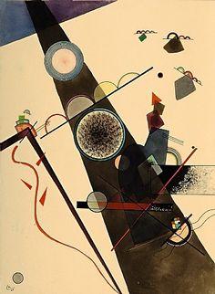 Wassily Kandinsky| Brauner Strahl (Brown Ray) | 1924