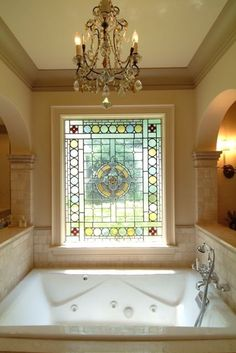Always wanted a chandelier over the tub.