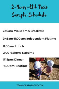 Two-Year-Old Basic Sample Schedule Twins Schedule, Toddler Schedule, Parenting Teens, Parenting Advice, Twin Toddlers, Toddler Twins, Breastfeeding Twins, Nursery Twins, Twin Mom