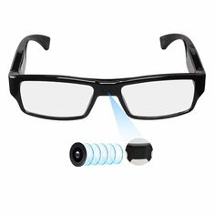8058868ad96 Spy Camera Glasses with Video Support Up to TF Card Video Camera Glasses  Portable Video Recorder