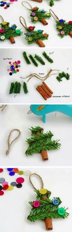 DIY Christmas tree ornaments... Gavin would love these!