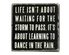 dance in the rain box sign/ 20% discount good til May 2014