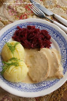 ***Pork Loin in Horseradish Cream Sauce***schab w sosie smietanowo -chrzanowym Kitchen Recipes, Cooking Recipes, Good Food, Yummy Food, Polish Recipes, Polish Food, Exotic Food, Pork Dishes, Pork Recipes