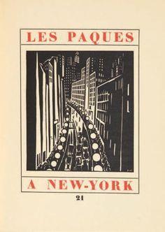 CENDRARS (BLAISE) Les Pâques à New-York. Avec 8 bois dessinés et gravés par Frans Masereel. Paris, René Kieffer, 1926