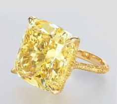 43.36 carats Yellow Diamond studded in Gold
