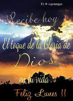 Recibe HOY el toque de la Gloria de Dios en tu vida !