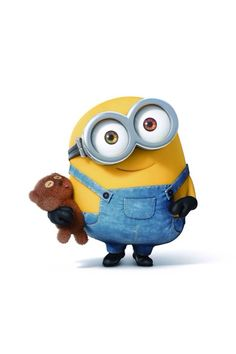Bob the minion and Tim teddy bear. ,Bob the minion and Tim teddy bear,