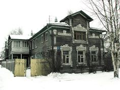 russian wooden house,Vologda,Russia
