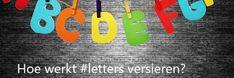 Hoe werkt #letters versieren?