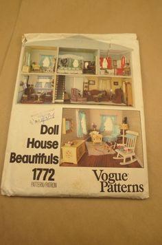 Vogue Patterns Doll House Beautifuls 1772 uncut..