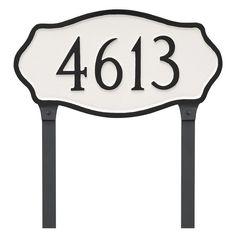 Montague Metal Hampton Estate Address Sign Lawn Plaque - PCS-0048E1-L-BS