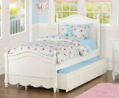 Amazon.com: The Rachel Twin Trundle Bed: Home & Kitchen