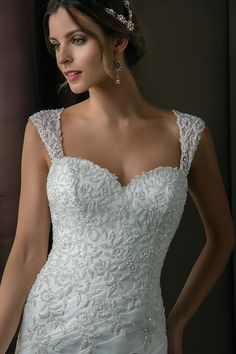 Sweetheart neckline with straps wedding dress Jasmine Couture style T172003