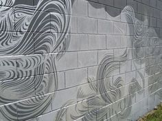 Block Wall Design Some Of The Best Random Cinder Block Wall Painting I Have Seen Decor Cinder Block Paint, Cinder Block Garden, Cinder Blocks, Concrete Block Walls, Concrete Wall, House Furniture Design, Block Painting, Painting Concrete, Cool Paintings
