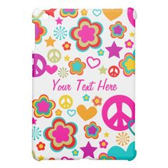Peace Love & Everything Girly iPad Mini Cases