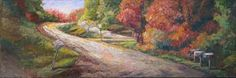 "Contemporary Artists of Texas: ""Scenic Route"" New Autumn Palette Knife Painting by Niki Gulley"