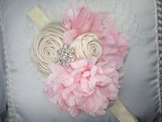 Pink Baby Flower HeadbandsFlower Headbands Pink by lepetitejardin, $20.95