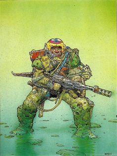 Moebius sci-fi illustration