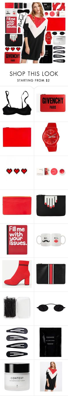 """romweeeee boo"" by puhizaxox ❤ liked on Polyvore featuring Mimi Holliday by Damaris, CASSETTE, Givenchy, Swatch, Retrò, Korres, DANNIJO, Lulu Guinness, Pier 1 Imports and Forever 21"