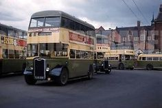 PHOTO-Wolverhampton-Corporation-Guy-Arab-III-558-FJW558-in-1963-on-route-15 Double Decker Bus, Bus Coach, Wolverhampton, Busses, Commercial Vehicle, Coaches, Transportation, Classic Cars, Bright