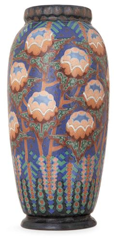REVERNAY - Large ovoid earthenware vase - gorgeous color and texture