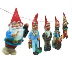 Vintage Garden Gnomes Garland photo by RawBoneStudio on Etsy