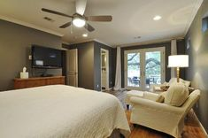 French doors outside craft rooms pinterest - Garage converted to master bedroom ...