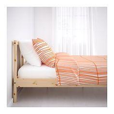 IKEA - FJELLSE, Structure de lit, , En bois massif, un matériau naturel et résistant à l'usure.Vous pouvez huiler, cirer, peindre ou teinter la surface de bois massif brut pour la rendre plus résistante et facile d'entretien.