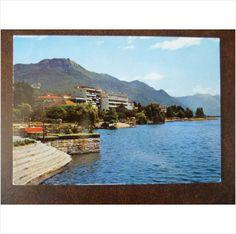 Switzerland Locarno Lake Maggiore Gardens 1970s colour postcard mountains