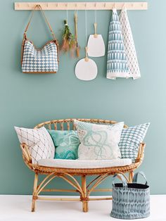 PRODUCT INFORMATION Material: Cover: cotton weave. May shrink Origin: Designed in Sweden by Camilla Lundsten for Littlephant Deco Pastel, Bleu Pastel, Pastel Decor, Nordic Living Room, Cosy House, Cosy Corner, Blue Bedroom, Cool Chairs, Bedroom Styles