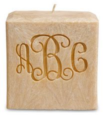 Monogrammed Natural Scent Candle #StationeryStudio