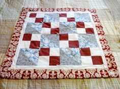 Baby Quilt in Red and Blue by pleasantshoppe on Etsy - Gonna make this one for Jack next!