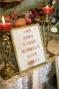 happily ever after scrabble sign