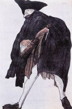 Lessingimages.com - Bakst,Leon. Costume sketch for a musician from the ballet