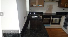 "Emerald Pearl Kitchen ""Thanks for doing a great job of fitting the granite, it really makes the kitchen."" #GraniteWorktops"