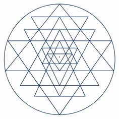 Research Image 8: 2nd Remap. Shiva/Shri Yantra. Geometric abstract of male/female identity.