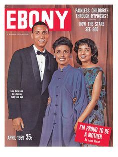 Photographic Print: Ebony April 1959 Poster by Moneta Sleet Jr. Jet Magazine, Black Magazine, Ebony Magazine Cover, Magazine Covers, Lena Horne, Vintage Black Glamour, Black Celebrities, Celebs, Black History Facts