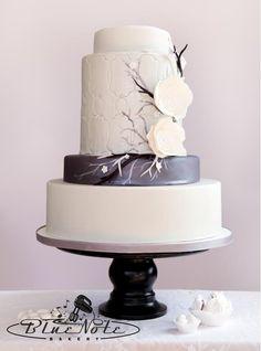 Ice flower wedding cake | Blue Note Bakery - Austin, Texas