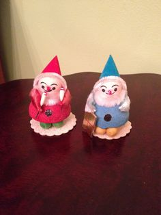 Vintage Christmas/Holiday Red and Blue Santa/Snowman by SchmitysVintageBooty on Etsy