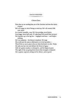 """Citizen Dave"" by David Biespiel  
