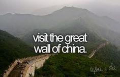 Visit the Great Wall of China.