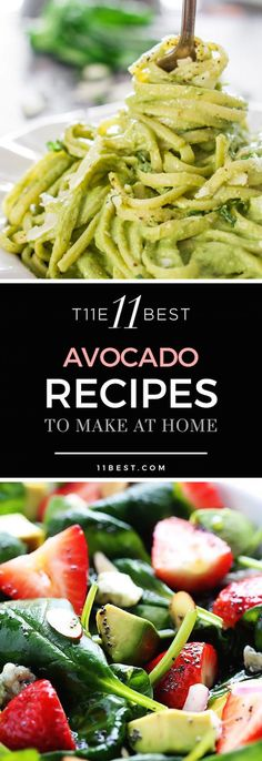 The 11 Best Avocado Recipes - avocado inspired sauces, drool-worthy guacamole creations, and even a guacamole dessert (yes, dessert! Best Avocado Recipes, Veggie Recipes, Vegetarian Recipes, Cooking Recipes, Healthy Recipes, Healthy Snacks, Healthy Eating, Avocado Dessert, Food For Thought