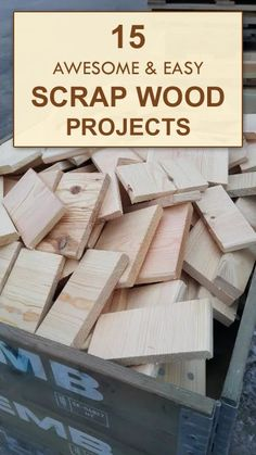 Wood Pallets Ideas 15 AWESOME and EASY Scrap Wood Projects - Don't throw wood scraps away! Put them to good use by building one of these fun and functional projects for your home.