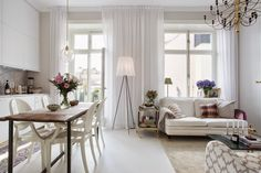 [Interior] Femenino y elegante mini apartamento de 42 m² | Decorar tu casa es facilisimo.com