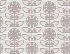 Layla Faye Dotty Flower  Swirly Grey Wallpaper main image