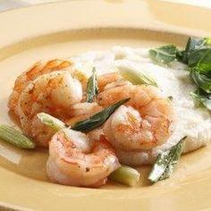 Shrimp & Cheddar Grits - EatingWell.com